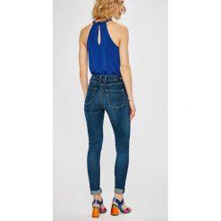 Pepe Jeans - Jeansy Regent. Niebieskie jeansy damskie rurki Pepe Jeans, z bawełny, z podwyższonym stanem. Za 379,90 zł.