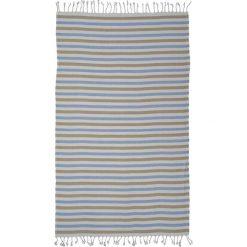 Kąpielówki męskie: Ręcznik w kolorze szaro-brązowo-niebieskim
