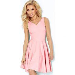 Marina Sukienka z koła - dekolt w kształcie serca - PASTELOWY RÓŻ. Różowe sukienki marki numoco, l, z długim rękawem, maxi, oversize. Za 159,99 zł.