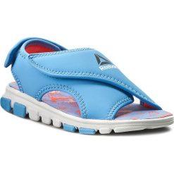 Sandały Reebok - Wave Glider II BD4258 Sky Blue/Vitamin C. Niebieskie sandały męskie skórzane marki Reebok. Za 99,00 zł.