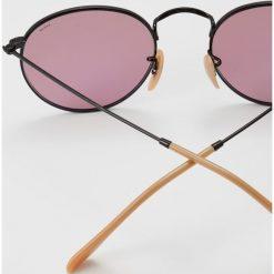 RayBan ROUND METAL Okulary przeciwsłoneczne black. Czarne okulary przeciwsłoneczne męskie Ray-Ban. Za 719,00 zł.