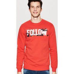 Odzież męska: Bluza z nadrukiem - Czerwony