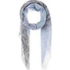 Chusty damskie: Chusta w kolorze błękitno-szarym – 140 x 135 cm