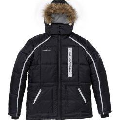 Kurtka pikowana Regular Fit bonprix czarny. Czarne kurtki męskie pikowane marki bonprix, na zimę, m, w prążki. Za 124,99 zł.