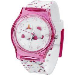 Minions Fluffy Unicorn Zegarek na rękę biały/różowy. Białe, analogowe zegarki męskie Minions, sztuczne. Za 74,90 zł.