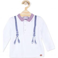 Koszulka. Białe t-shirty chłopięce z krótkim rękawem UP ALL NIGHT, z bawełny. Za 19,90 zł.