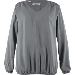 Bluzka z długim rękawem bonprix dymny szary. Szare bluzki asymetryczne bonprix, z długim rękawem. Za 74,99 zł.