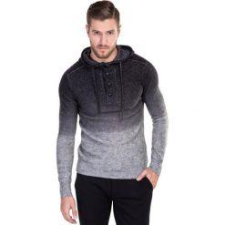 SWETER SWWS000147 NICOLINO. Czarne swetry klasyczne męskie marki Reserved, m, z kapturem. Za 299,00 zł.