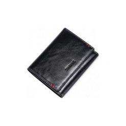 Portfele męskie: Sammons Prosty krótki męski portfel z naturalnej skóry Czarny  (350218-01)