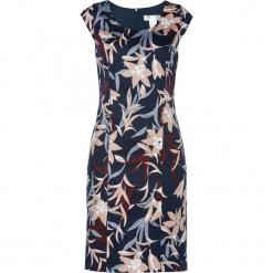 Sukienka ołówkowa bonprix ciemnoniebieski z nadrukiem. Niebieskie sukienki balowe marki bonprix, z nadrukiem, dopasowane. Za 149,99 zł.