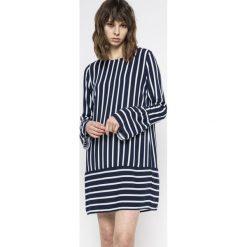 Vila - Sukienka Linetta. Szare długie sukienki marki Vila, na co dzień, m, z tkaniny, casualowe, z dekoltem w łódkę, z długim rękawem. W wyprzedaży za 79,90 zł.
