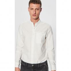 Gładka koszula ze stójką - Kremowy. Niebieskie koszule męskie na spinki marki Reserved, m, ze stójką. Za 79,99 zł.