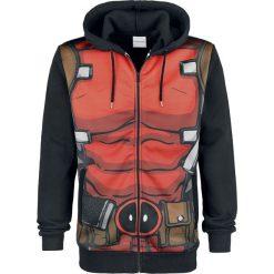 Deadpool Cosplay Bluza z kapturem rozpinana czarny. Czarne bluzy męskie rozpinane Deadpool, m, z nadrukiem, z tworzywa sztucznego, z kapturem. Za 121,90 zł.