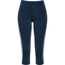 Legginsy 7/8 bonprix ciemnoniebiesko-biały. Niebieskie legginsy we wzory bonprix. Za 54,99 zł.
