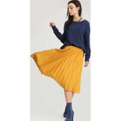 Spódniczki: Żółta Spódnica Pleated Story