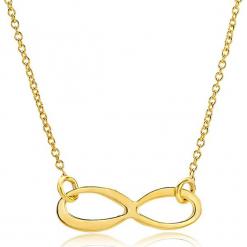 Złoty naszyjnik z elementem ozdobnym - dł. 47,5 cm. Żółte naszyjniki damskie marki METROPOLITAN, pozłacane. W wyprzedaży za 366,95 zł.
