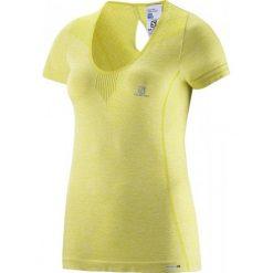 Salomon Koszulka Elevate Seamless Tee W Flashy-X Xs. Czarne bluzki sportowe damskie marki Salomon, z gore-texu, na sznurówki, outdoorowe, gore-tex. Za 265,00 zł.