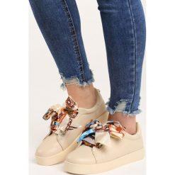 Beżowe Buty Sportowe Save Me. Brązowe buty sportowe damskie marki NEWFEEL, z gumy. Za 79,99 zł.