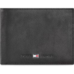 Duży Portfel Męski TOMMY HILFIGER - Johnson Cc Flap And Coin Pocket AM0AM00660/82566 Black 002. Czarne portfele męskie marki TOMMY HILFIGER, z nubiku. Za 299,00 zł.