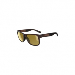 Okulary przeciwsłoneczne turystyczne MH 540 polaryzacyjne kat. 3. Brązowe okulary przeciwsłoneczne damskie aviatory QUECHUA, z gumy. Za 79,99 zł.