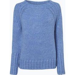 Marc O'Polo - Sweter damski z dodatkiem moheru, niebieski. Niebieskie swetry klasyczne damskie Marc O'Polo, l, z dzianiny, polo. Za 659,95 zł.