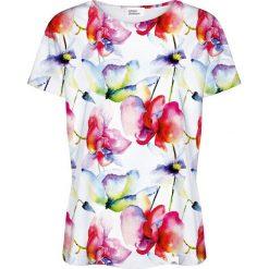 Colour Pleasure Koszulka damska CP-030 157 biało-różowa r. XXXL/XXXXL. Białe bluzki damskie marki Colour pleasure. Za 70,35 zł.