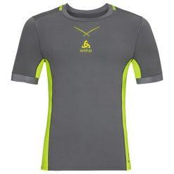 Odlo Koszulka męska Ceramicool pro Shirt s/s crew neck szaro-żółta r. L (160112/10478). Niebieskie koszulki sportowe męskie marki Odlo, l. Za 128,01 zł.