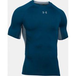 Under Armour Koszulka termoaktywna HeatGear® Compression Shortsleeve M granatowo-szara r. M (1257468-997). Niebieskie koszulki sportowe męskie Under Armour, m. Za 96,93 zł.
