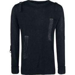 Vixxsin Ammo Top Sweter z dzianiny czarny. Czarne swetry klasyczne męskie Vixxsin, l, w paski, z dzianiny. Za 199,90 zł.
