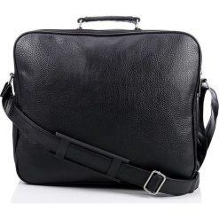 Męska czarna duża TORBA na ramię WIKTOR. Czarne torby na ramię męskie marki Bag Street, w paski, z nylonu, na ramię, duże. Za 99,90 zł.