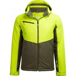 Kurtka narciarska męska KUMN604 - limonka - Outhorn. Czarne kurtki męskie pikowane marki Outhorn, na lato, z bawełny. Za 349,99 zł.