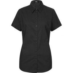 Bluzka z krótkim rękawem bonprix czarny. Czarne bluzki asymetryczne bonprix, z krótkim rękawem. Za 54,99 zł.