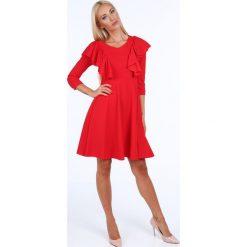 Sukienka z falbanami czerwona 1818. Czarne sukienki marki Fasardi, m, z dresówki. Za 89,00 zł.