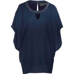 Tunika bonprix ciemnoniebieski. Niebieskie tuniki damskie bonprix, z okrągłym kołnierzem. Za 119,99 zł.