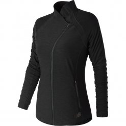 New Balance WJ81115BK. Brązowe kurtki damskie do biegania New Balance, na jesień, z materiału. Za 199,99 zł.