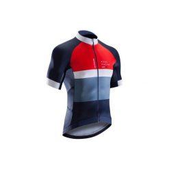 Koszulka krótki rękaw na rower szosowy ROADRACING 500 męska. Czarne odzież rowerowa męska marki B'TWIN, m. Za 199,99 zł.
