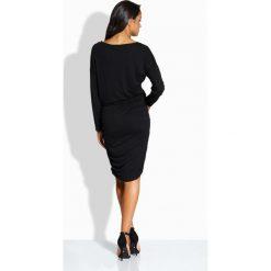 Elegancka dopasowana sukienka czarna AMBER. Czarne długie sukienki Lemoniade, eleganckie, z długim rękawem, dopasowane. Za 69,00 zł.
