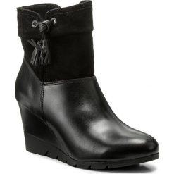 Botki LASOCKI - A205-1 Czarny. Czarne buty zimowe damskie Lasocki, ze skóry, na obcasie. Za 249,99 zł.