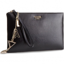 Torebka GUESS - HWVG71 85690 BLA. Czarne torebki klasyczne damskie Guess, z aplikacjami, ze skóry ekologicznej. Za 369,00 zł.