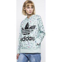 Adidas Originals - Bluza. Szare bluzy sportowe damskie marki adidas Originals, m, z nadrukiem, z dzianiny, z kapturem. W wyprzedaży za 249,90 zł.