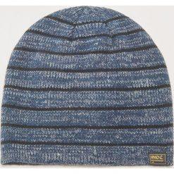 Czapka w paski - Granatowy. Niebieskie czapki zimowe męskie marki House, w paski. Za 29,99 zł.