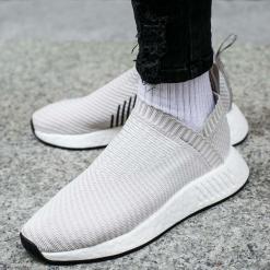"""Buty adidas NMD_CS2 Primeknit Women """"Pearl Grey"""" (BA7213). Szare buty sportowe damskie adidas nmd Adidas, z materiału. Za 299,99 zł."""