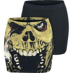 Gothicana by EMP The Double Life Spódnica czarny. Czarne spódniczki marki Black Premium by EMP, xxl, z nadrukiem, oversize. Za 79,90 zł.