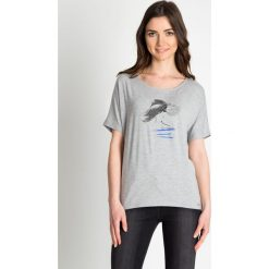 Bluzki damskie: Szara bluzka oversize QUIOSQUE