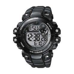 Biżuteria i zegarki męskie: Zegarek Q&Q Męski M151-003 Podświetlenie Alarm Daty czarny