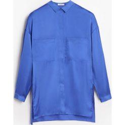Koszula o satynowym połysku - Niebieski. Niebieskie koszule damskie marki Reserved, l, z satyny. W wyprzedaży za 59,99 zł.