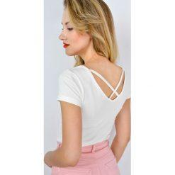 Bluzki asymetryczne: Miękka bluzeczka ze skrzyżowanymi paskami