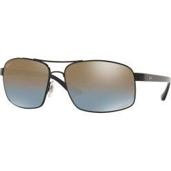 Ray-Ban - Okulary. Szare okulary przeciwsłoneczne męskie marki Ray-Ban, z materiału. Za 849,90 zł.