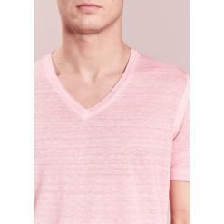 T-shirty męskie: 120% Lino UOMO Tshirt basic rose