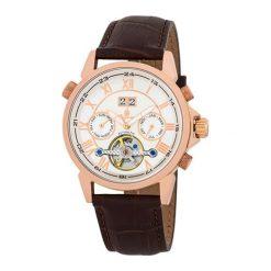 """Zegarki męskie: Zegarek """"California"""" w kolorze brązowo-biało-złotym"""